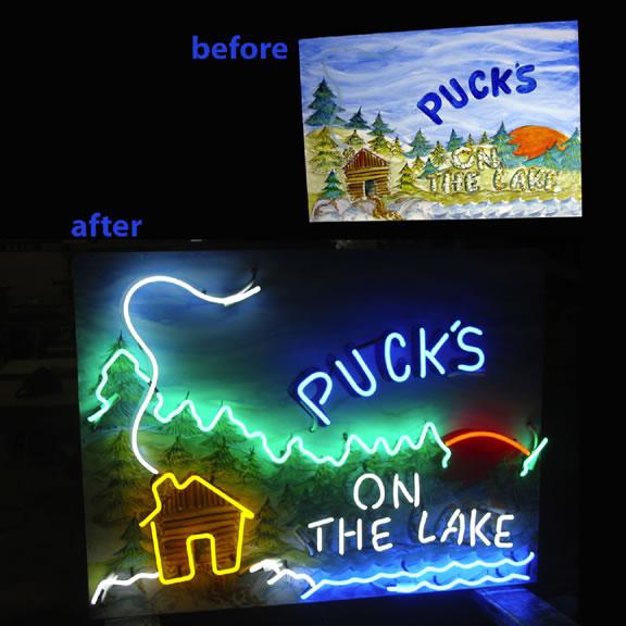 skyline sign neon - photo #43